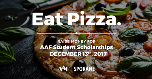 Eat Pizza. Raise money for AAF Student Scholarships